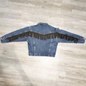 Vintage Jordache Concepts Fringed Denim Jacket